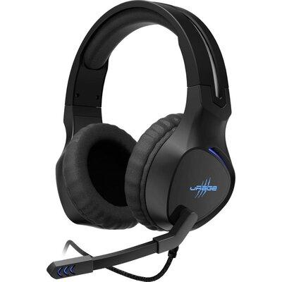 Геймърски слушалки Hama uRage SoundZ 400, Микрофон, USB Черен - 186010