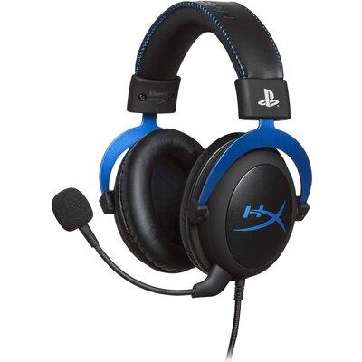 Геймърски слушалки HyperX, Cloud - PS4, Микрофон, Черен/Син