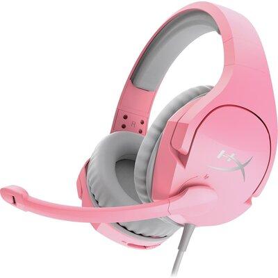 Геймърски слушалки HyperX, Cloud Stinger Pink, Микрофон, Розово