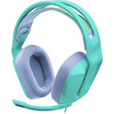 Геймърски слушалки Logitech G335, Микрофон, Ментови