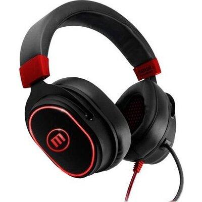 Геймърски слушалки MAXELL Samurai CA-H-MIC-1200, микрофон, вибрация, Черен/Червен