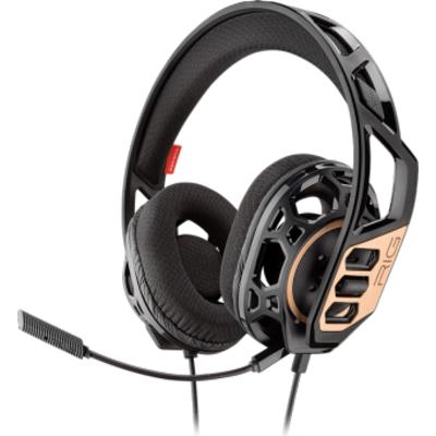 Геймърски слушалки Plantronics RIG 300, Микрофон, Черен/Златист