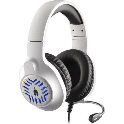 Геймърски слушалки Spartan Gear Medusa, Микрофон, Бял/Черен