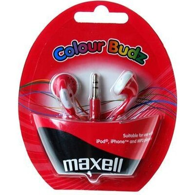 Слушалки  MAXELL Colour BUDZ, In-Ear, Червен