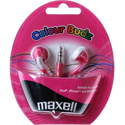 Слушалки  MAXELL Colour BUDZ , In-Ear, Розов