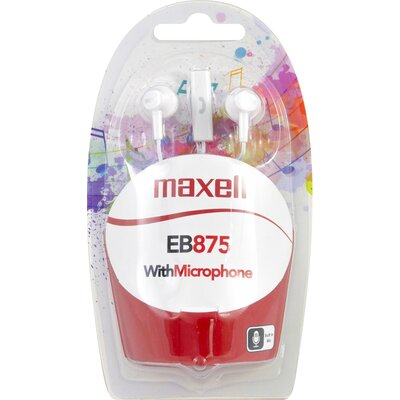 Слушалки с микрофон MAXELL EB-875 Ear BUDS, тапи, бели