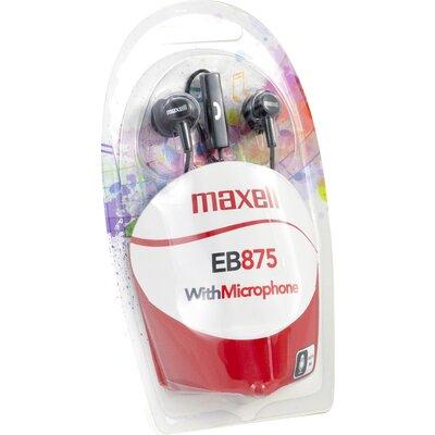 Слушалки с микрофон MAXELL EB-875 Ear BUDS тапи черни