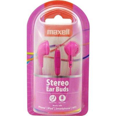 Слушалки с микрофон MAXELL EB-95 Ear BUDS тапи розови