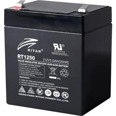 Оловна Батерия (RT1250) AGM  12V / 5Ah - 90 / 70 / 101mm терминал 2  RITAR