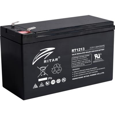 Оловна батерия RITAR (RT1213), 12V / 1.3Ah AGM 98/43,5/53 mm