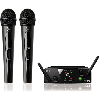 Система с 2 безжични микрофона AKG WMS40 Mini Dual Vocal Set - AKG WMS40 Mini Dual Vocal Set