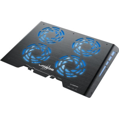 Охлаждаща поставка за лаптоп Hama uRage Freezer 600 Metal, 4 вентилатора, Черен