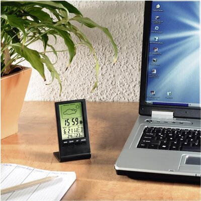 Цифров термометър/хигрометър HAMA TH-100 186358, Черен -