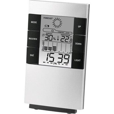 Цифров термометър/хигрометър HAMA TH-200 186379, Черен/Сив -