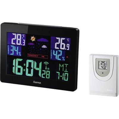 Електронна метеостанция HAMA Color EWS-1400, черен -