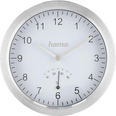 Часовник за баня Hama Aluminium, Ø17 cm, за стена, Сребрист