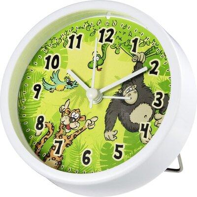 Настолен часовник Hama Jungle, Детски, Аларма, Зелен/Бял
