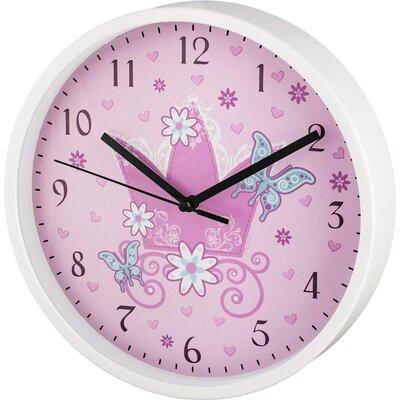Стенен часовник Hama Crown, Детски, 22.5 cm, Розов