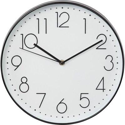 Стенен часовник Hama Elegance, Тих, 30 см., Бял/Черен