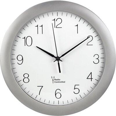 Стенен радио часовник Hama PG-300, DCF, 30 см., Сребрист