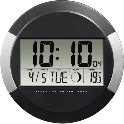 Стенен радио часовник Hama PP-245, DCF, 24.5 см., Черен