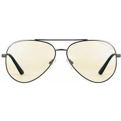 Геймърски очила GUNNAR Maverick Gunmetal Liquet, Сребрист
