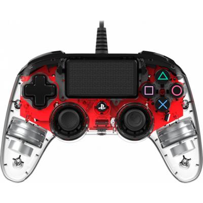 Жичен геймпад Nacon Wired Illuminated Compact Controller Red, Червен