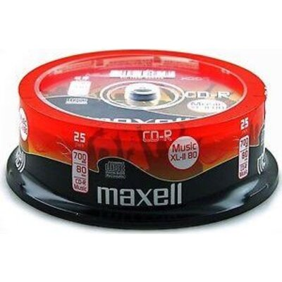 CD-R Music XL-II MAXELL, 700MB, 80 min, 25 бр -