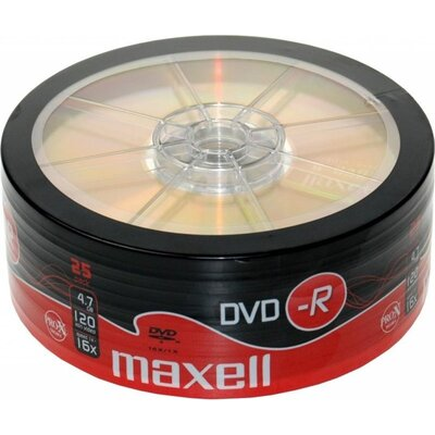 DVD-R MAXELL, 4,7 GB, 16x, 25 бр. -