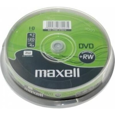 DVD+RW MAXELL, 4,7 GB, 4x, 10 бр. -