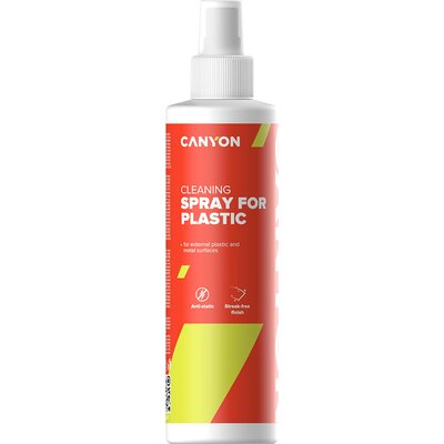 Canyon Plastic Cleaning Spray for external plastic and metal surfaces of computers, telephones, fax machines and other office eq