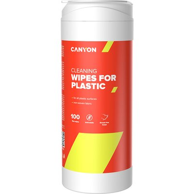 Canyon Plastic Cleaning Wipes, Non-woven wipes impregnated with a special cleaning composition, with antistatic and disinfectant