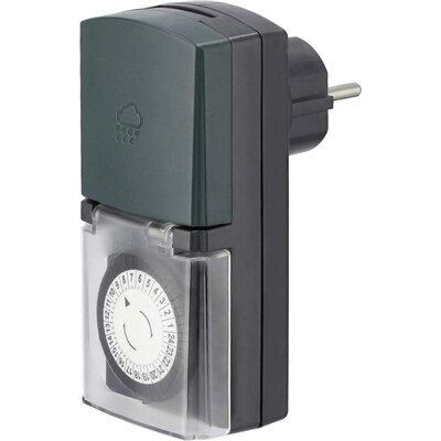 Механичен дневен таймер HAMA Mini, за външна употреба, Черен -