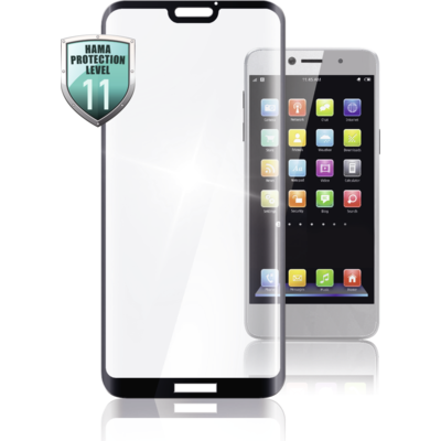 Стъклен 3D протектор HAMA за Huawei Mate 20 Lite, черен кант - 183498