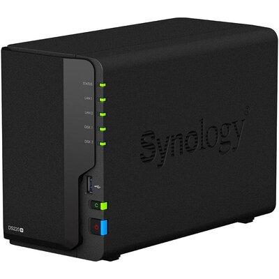 Мрежов сторидж Synology DS220+, за 2 диска, до 32TB, 2GHz, 2GB, Гигабит, USB3.0
