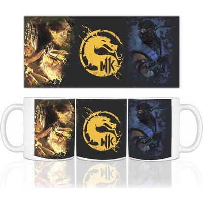 Mortal Kombat чаша с лого