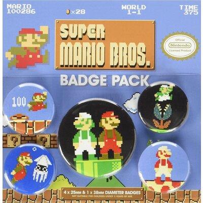 Значки Pyramid International - Nintendo - Super Mario Bros. (Retro) Badge Pack