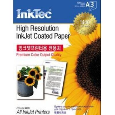 Хартия INTEC Coated Paper, 100sh, A3, 105 g/m2 - Int ITP-7210A3