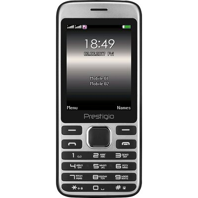 Prestigio Grace A1, 2.8'' (240*320) display, Dual SIM, MT6261D, GSM 900/1800, 32MB DDR, 32MB Flash, micro SD cards support up to