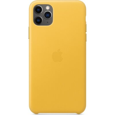 Калъф Apple iPhone 11 Pro Max Leather Case - Meyer Lemon (Seasonal Autumn 2019)