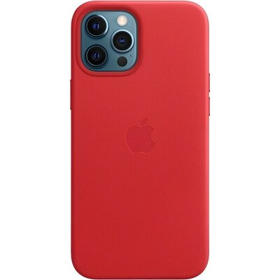 Калъф Apple iPhone 12 Pro Max Leather Case with MagSafe - (PRODUCT)RED