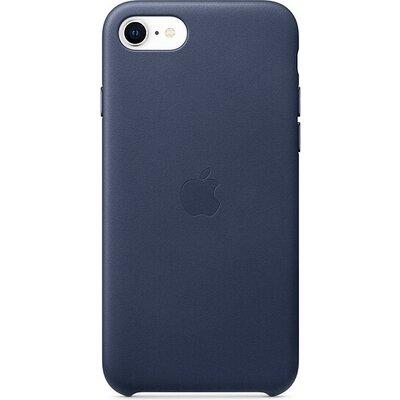 Калъф Apple iPhone SE2 Leather Case - Midnight Blue