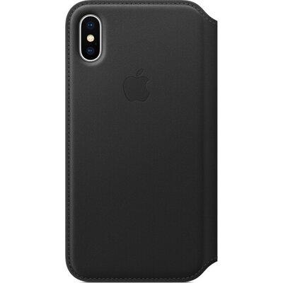 Калъф Apple iPhone X Leather Folio - Black