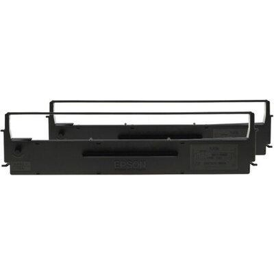 Консуматив Epson SIDM Black Ribbon Cartridge for LX-350/300+/300+II, Dualpack