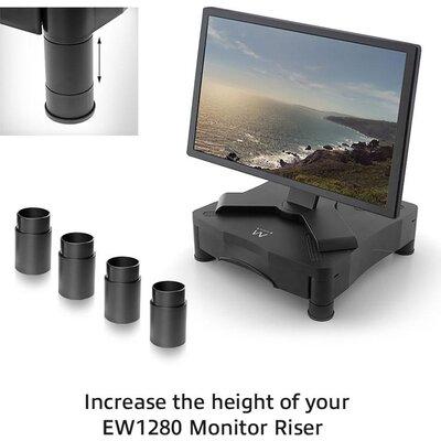 Допълнителни крачета Ewent EW1282, за стойка за монитор EW1280, Черни