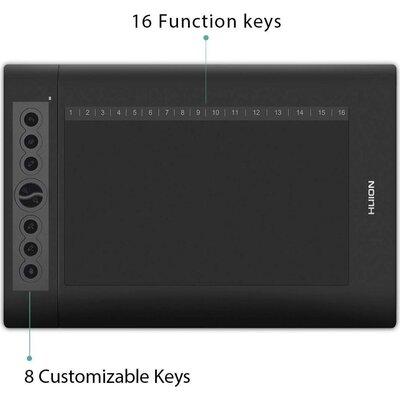 Графичен таблет HUION H610PRO V2,  USB, Черен