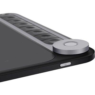 Графичен таблет HUION Inspiroy Dial Q620M, USB-C, Черен