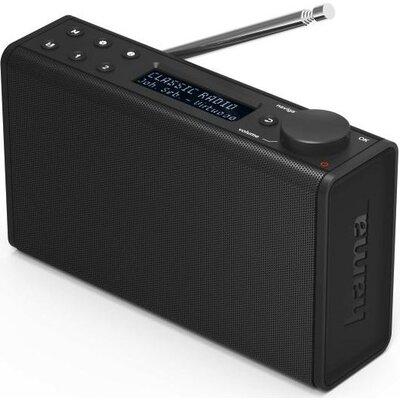 Цифрово радио HAMA DR7, FM/DAB/DAB+/Работа с батерии, Черен