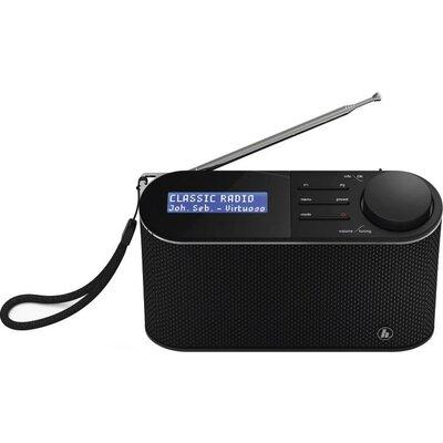 Цифрово радио Hama DR15, FM/DAB/DAB+/Работа с батерии, Черен