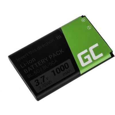 Батерия за телефон GREEN CELL BL-5C, за Nokia 105 2700 3110 5130 6230 E50, 3.7V, 1050mAh
